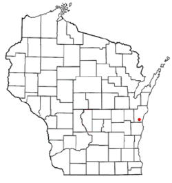 Location of Meeme, Wisconsin