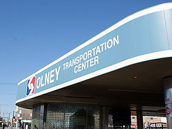 The Olney Transportation Center in Olney