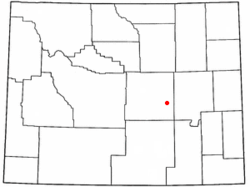 Location of Evansville, Wyoming