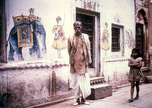 Wall paintings, Varanasi, 1974 - Varanasi