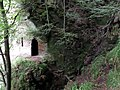 Wallace's Cave and location in small gorge, Lugar Gorge, Auchinleck, East Ayrshire.jpg