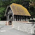 Walls and Lychgate at St Margaret's Church, The Green, Rottingdean (NHLE Code 1381002) (August 2010).JPG