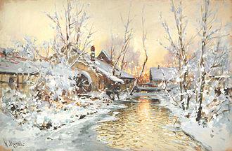 Walter Moras - Moras: Snowy Mill