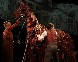 War Horse (play) - Joey and members of the cast at a production of the play in Australia