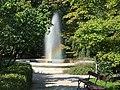 Warsaw Uniwersity Botanical Garden fountain.jpg
