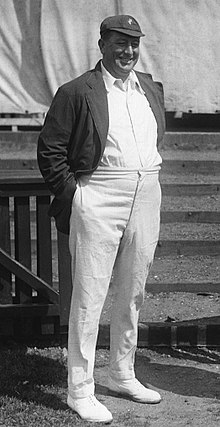Armstrong As Captain Of The Australian Team In Leicester 1921