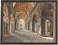 Wasserfarben - Rom - Petersdom von innen - Domenico Quaglio - um 1830.jpg