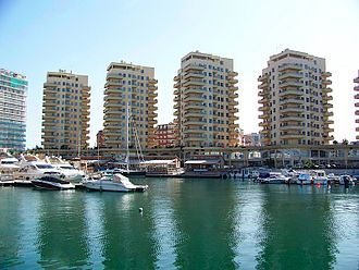 Ocean Village Marina, Gibraltar - Residential development on the marina