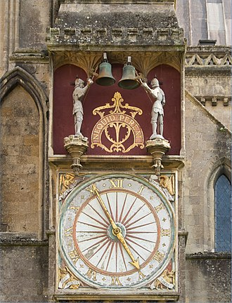 Wells Cathedral clock - Exterior face