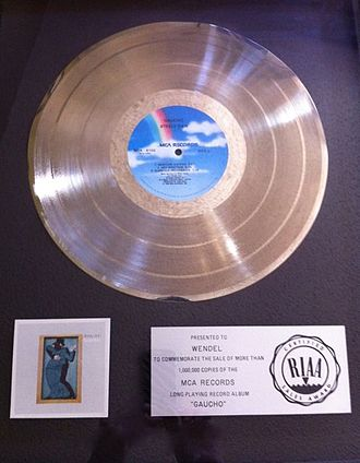 "Gaucho (album) - Platinum record awarded to Gaucho drum machine ""Wendel"" invented by recording engineer Roger Nichols"