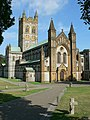 West Front, Buckfast Abbey - geograph.org.uk - 219085.jpg