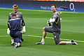 West Ham goalies warm up.jpg