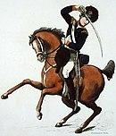 Yeomanry Cavalryman on horseback