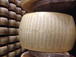 Wheel of 2013 Parmigiano-Reggiano DOP