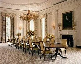 Sala de jantar de estado casa branca wikip dia a for Casa moderna wiki