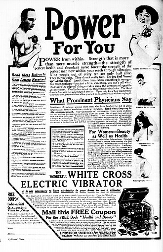 Vibrator (sex toy) - 1913 advertisement