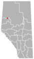 Whitelaw, Alberta Location.png