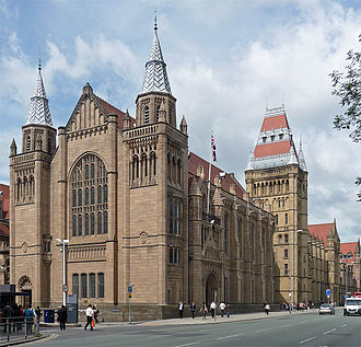 Red brick university - Image: Whitworth Hall Manchester