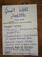 Wikimania 2019 Hackathon poster - Small Wiki Toolkits.jpg