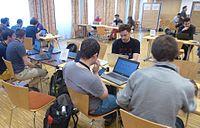 Wikimedia Hackathon Vienna 2017 attendees 03.jpg