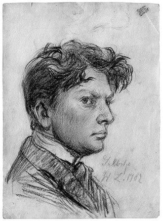 Wilhelm Lehmbruck - Wilhelm Lehmbruck: Self-portrait, 1902