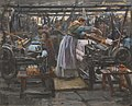 Wilhelm Peters - Interior from Hjula weaving Mill - NG.M.00871 - National Museum of Art, Architecture and Design.jpg