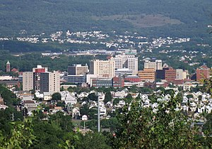 Wilkes-Barre downtown panorama from Laurel Run