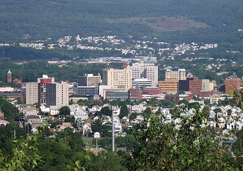 Wilkes-Barre, the county seat and largest city of Luzerne County Wilkes Barre Panorama.jpg