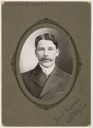 William Henry Ogilvie - Will H. Ogilvie, circa 1900, aged about 30.  Bearing subject's signature