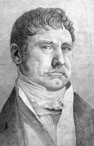 William Gell - William Gell, by Cornelius Varley, 1816 (National Portrait Gallery).