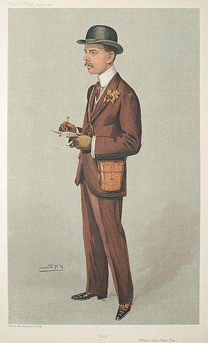 "Sir William Bass, 2nd Baronet - ""Billy"" as depicted by Spy (Leslie Ward) in Vanity Fair, September 1905"