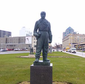 William Stephenson - The William Stephenson statue near Memorial Boulevard in downtown Winnipeg.