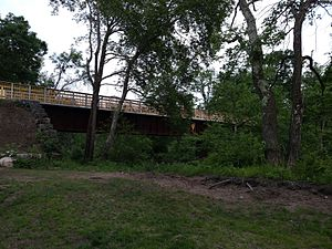 Air Line State Park Trail - The bridge from the Hop River Trail