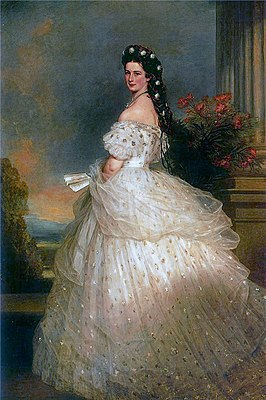 Portret van keizerin Elisabeth (Sisi) door Franz Xaver Winterhalter (Wikipedia)