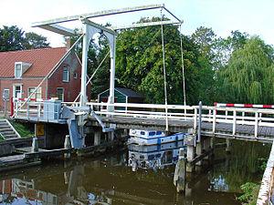 Wirdum, Groningen - The Wirdumerklap bridge across the Damsterdiep