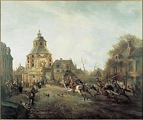 De aankomst van de kozakken in Utrecht in 1813