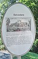 Wonsees, Felsengarten Sanspareil, Belvedere, Plaque.jpg