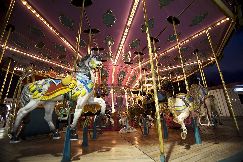 File Wooden Horses Merry Go Round Carrousel At The Eur