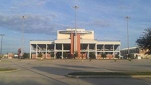 Shenandoah, Texas - Woodforest Bank Stadium, a football stadium in Shenandoah owned by Conroe ISD.