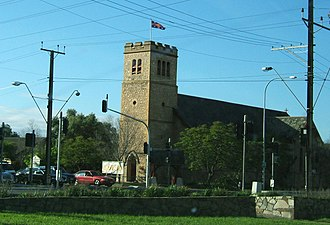 Woodville, South Australia - Anglican Church at the intersection of Woodville and Port Roads