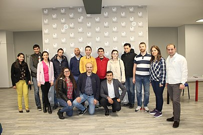 Workshop at Wikimedia Armenia office for Yerevan KASA Fondation Humanitaire Suisse, 4 April 2018 03.jpg