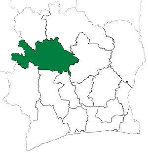 Worodougou - Worodougou Region upon its creation in 1997. Worodougou retained these boundaries until 2000, when it was divided to create Bafing Region.