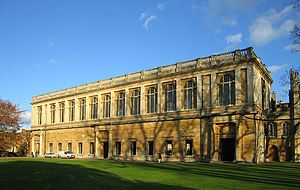 Wren Library - View of the rear facade from the river Cam