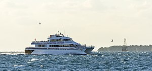 Dry Tortugas Ferry to Fort Jefferson - Yankee Freedom III returning to Key West from Dry Tortugas National Park