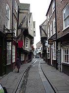 """""""The Shambles,"""" a medieval street in York"""