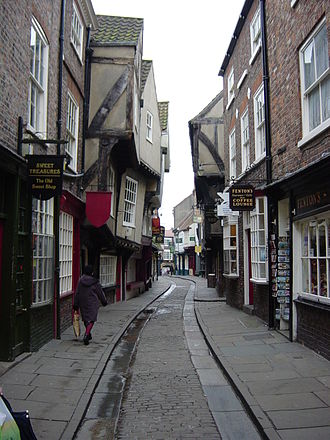 "History of York - ""The Shambles,"" a medieval street in York."