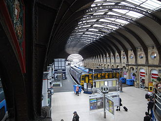 York railway station - The arched roof over the platforms