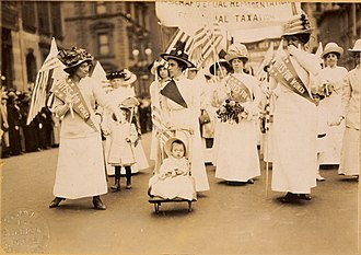 Timeline of women's suffrage - Suffrage parade, New York City, May 6, 1912