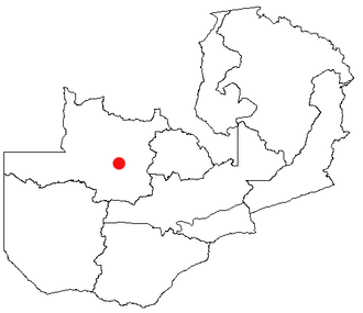 Mufumbwe - Location of Kasempa in Zambia
