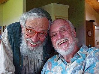 Ram Dass - Zalman Schachter-Shalomi (left) with Ram Dass (right) in February 2008